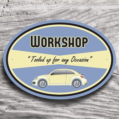 """Personalised Modern """"VW Beetle"""" Sign"""