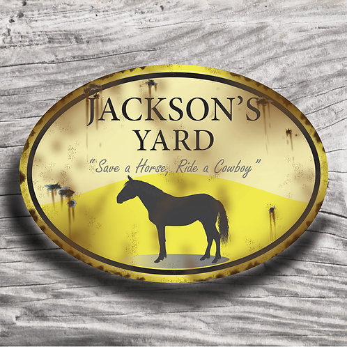 Personalised horse sign: Sports horse, Silhouette of horse