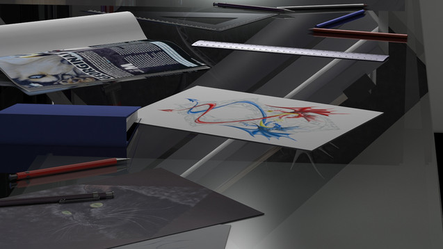 3D Digital Studio Room