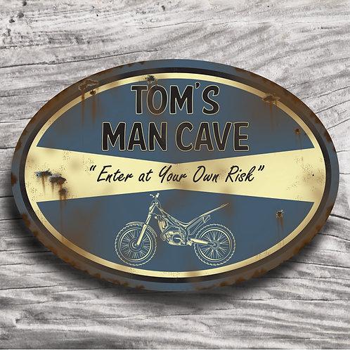 """Personalised Motorbike """"Trial Bike"""" Sign"""