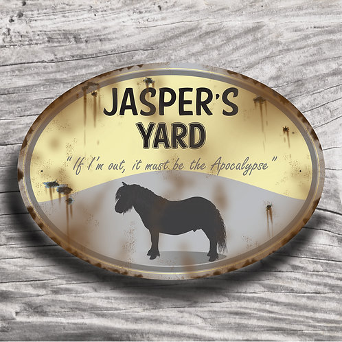 Personalised horse sign: Mini-type, Silhouette of pony