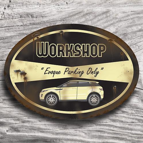 "Personalised 4 x 4 ""Range Rover Evoque"" Sign"