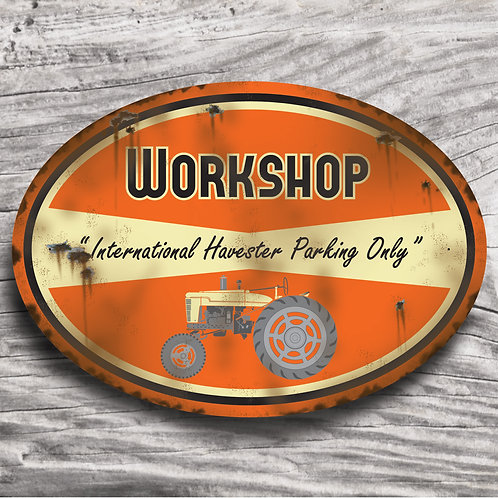 """Personalised """"Farmall International"""" Tractor Sign"""