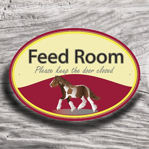 Personalised horse sign: Native Cob, Skewbald horse