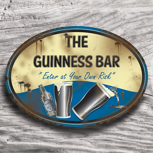 "Personalised Drinks ""Guinness"" Cream Effect Sign"
