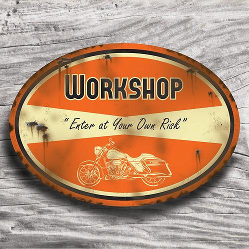 "Personalised Motorbike ""Road King"" Sign"