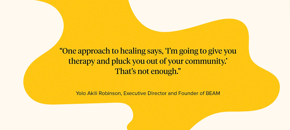 BEAM Collective- Meeting Mental Health N