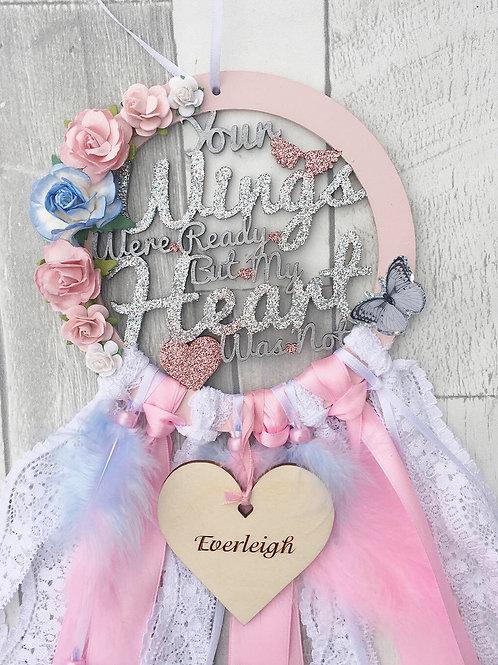 Floral Angel Dream Catcher