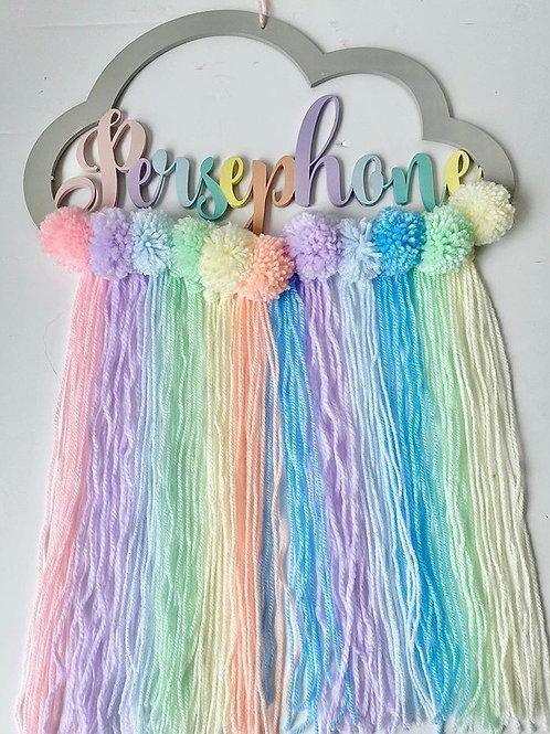 Custom made rainbow dream catcher