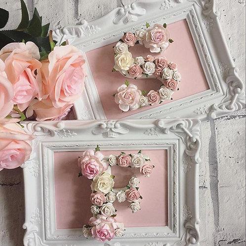 Framed Floral Letter