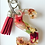 Thumbnail: Block Letter Keychain- Pressed Flowers and Resin