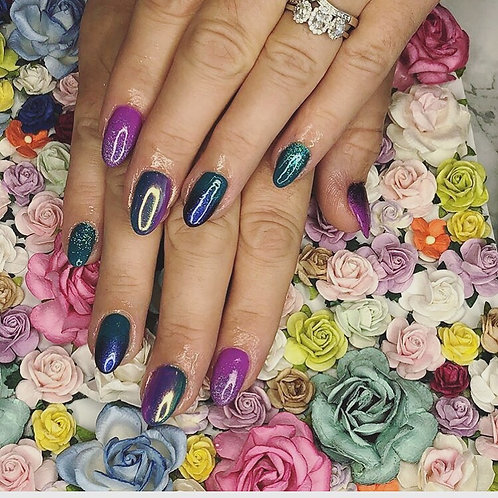 Floral nail background