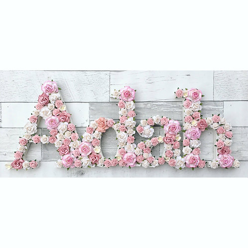 Bold Floral Name - Smallest size