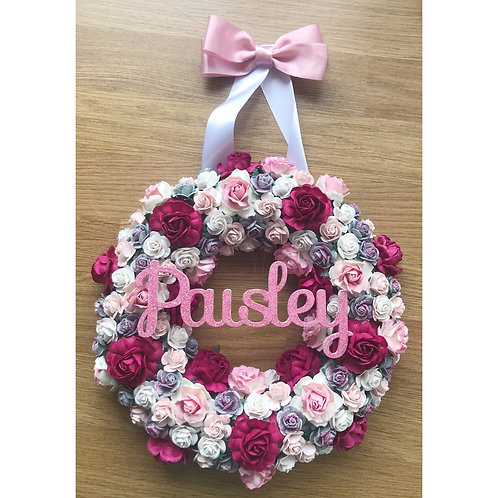 Personalised floral wreath