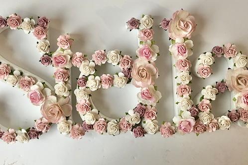 Bold Floral Name - Medium size
