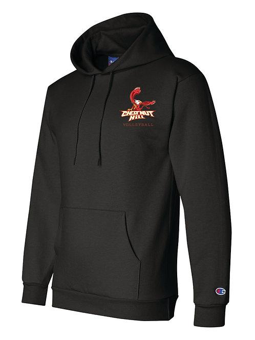 Champion - Black - Double Dry Eco Hooded Sweatshirt - S700
