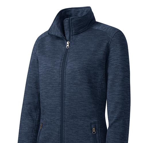 Digi Stripe Fleece Jackets - Navy Or Grey
