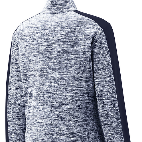 Posicharge Electric Heather Colorblock 1/4 Zip - Black Or Navy