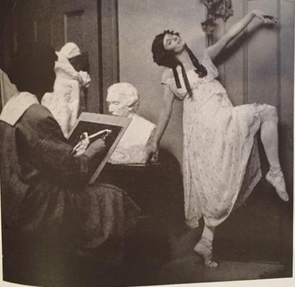 Anna Pavlova & the Bacchanale sculptures