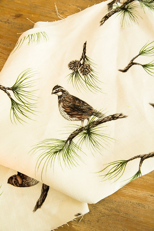 "Fabric ""Bobwhite & Pine"""