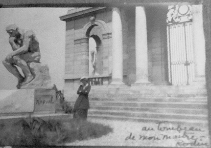 At the tomb of Rodin