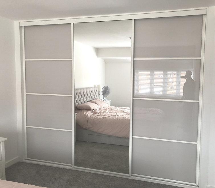 grey sliding wardrobe