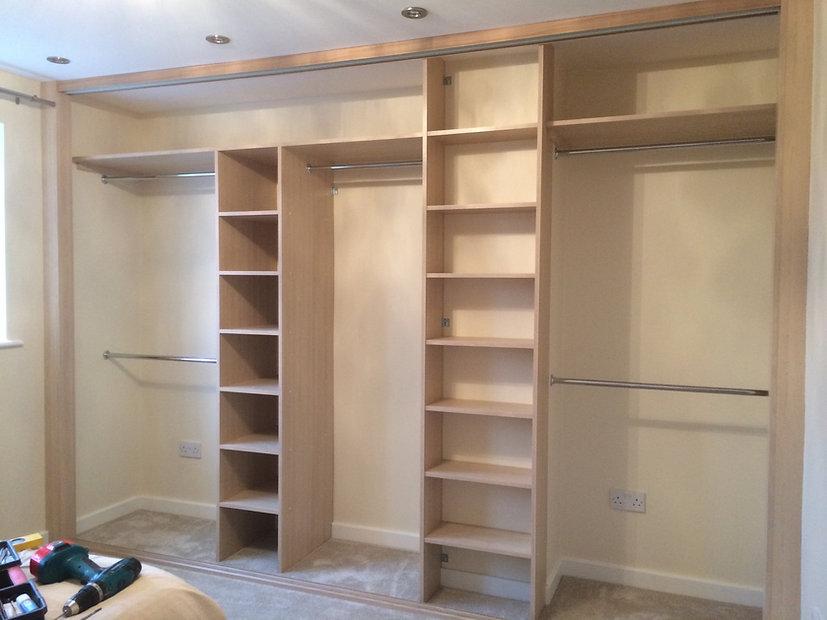Interior of a sliding wardrobe