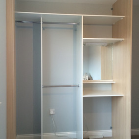 Interior of a wardrobe
