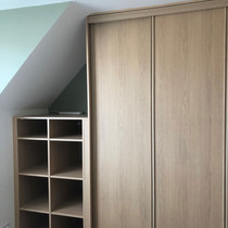 Classic wardrobe with shelves