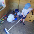 Children in play area