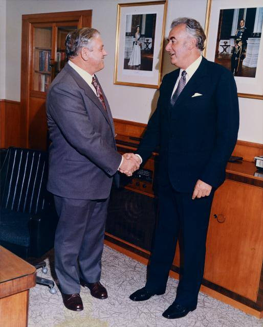 Gough Whitlam and Norman Kirk