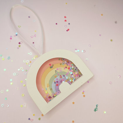 Lockdown Rainbow Christmas Bauble