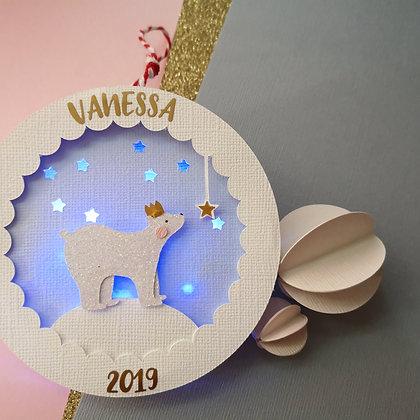 Polar Bear Light Up Christmas Bauble