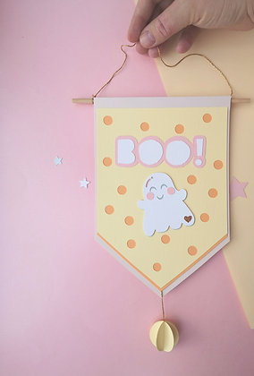 Cute Little Boo Halloween Banner
