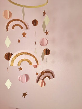 Sparkling Rainbow Mobile - Copper