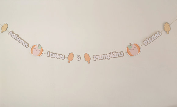 Autumn Leaves & Pumpkins Please Bunting