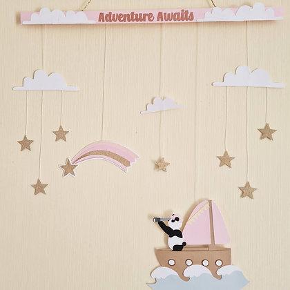 Star Sailor Panda | Wall Hanging
