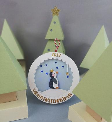 Penguin Light Up Christmas Bauble