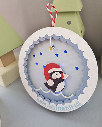 Puffin Light Up Christmas Bauble
