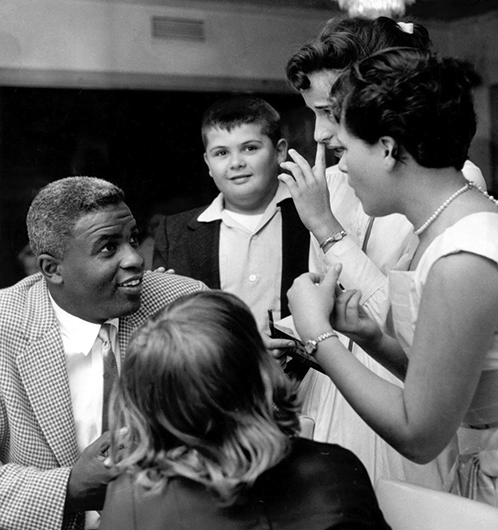 Jackie Robinson Talks with Family