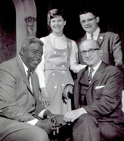 Jackie Robinson with Rabinovitz Family