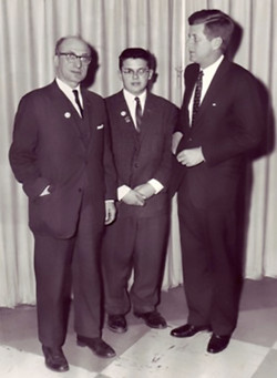 Ron, Dad & JFK
