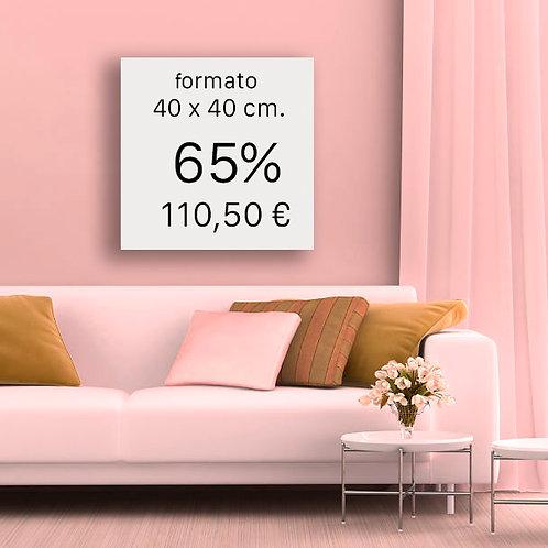 65% FORMATO 40x40 cm