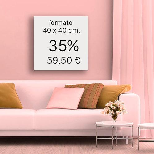 35% FORMATO 40x40 cm
