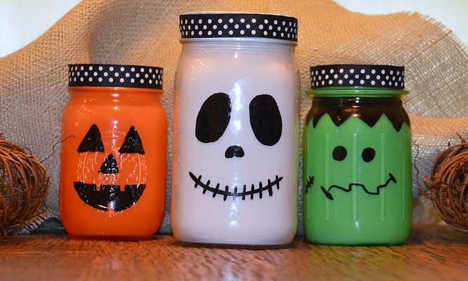 Neat Little Nest: #DIY #Halloween #Mason Jars