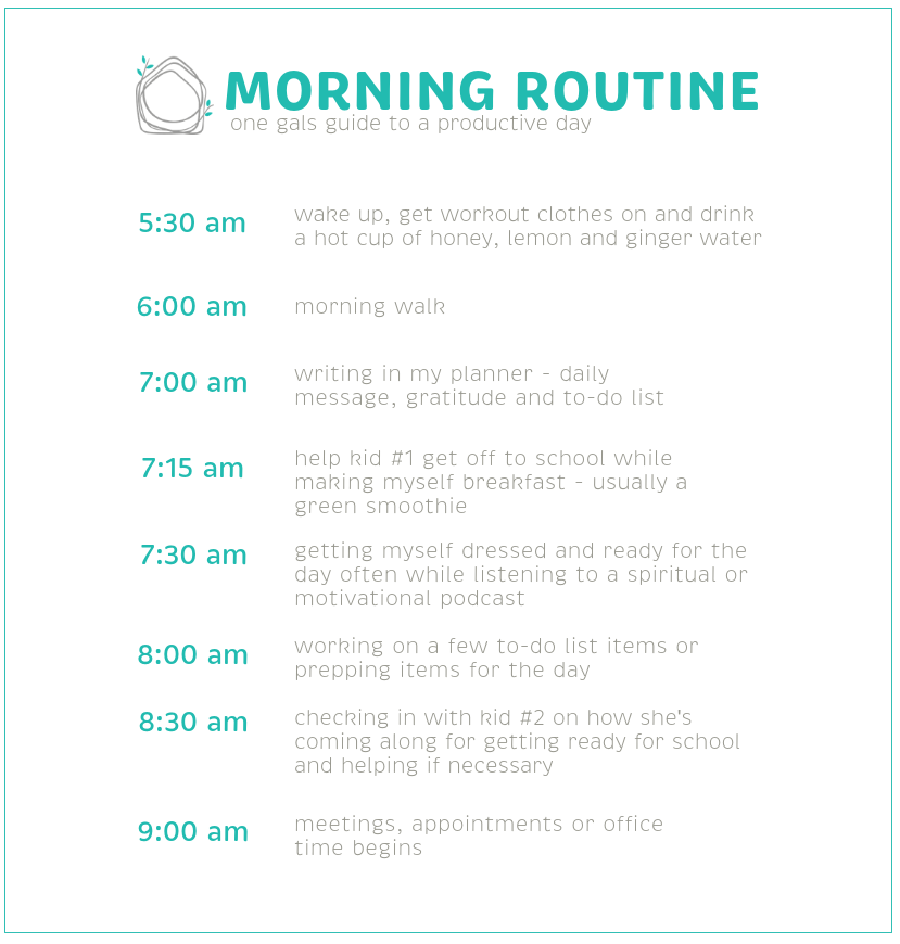 Neat Little Nest: Morning Routine