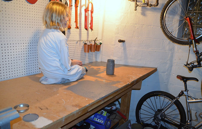 Neat Little Nest: Organizing A Man's Work Shop #Bikes #Men #Workshop #Garage #ManCave #Upcycle #DIY #Beer #Decorate #Wallpaper