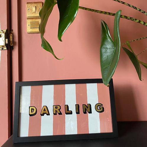 Darling sign (Free P&P)
