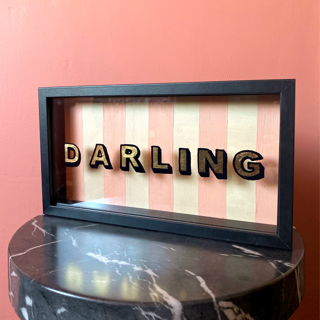 gold leaf darling sign
