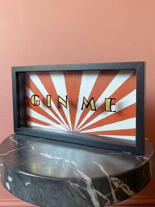 Gin me Sign (Free P&P)